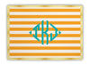 Clementine Classic Stripe Glass Cutting Board
