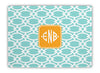 Mint Fretwork Glass Cutting Board