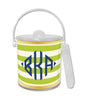Green Classic Stripe Ice Bucket