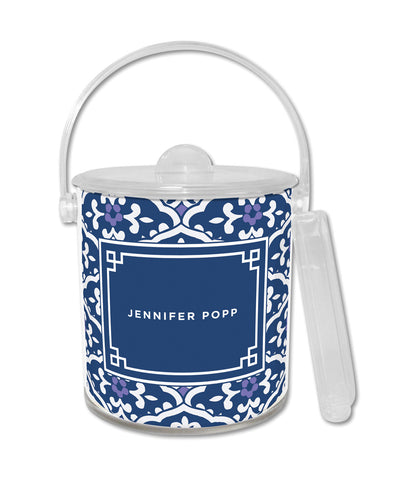 Navy Sea Floral Ice Bucket