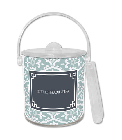Snow Owl Sea Floral Ice Bucket