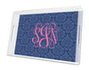 Navy Maddy Personalized Lucite Tray - Square, Small or Large {+ insert refill options}