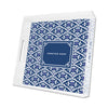 Navy Sea Floral Personalized Lucite Tray - Square, Small or Large {+ insert refill options}