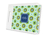 Jade Modern Suzani Personalized Lucite Tray - Square, Small or Large {+ insert refill options}