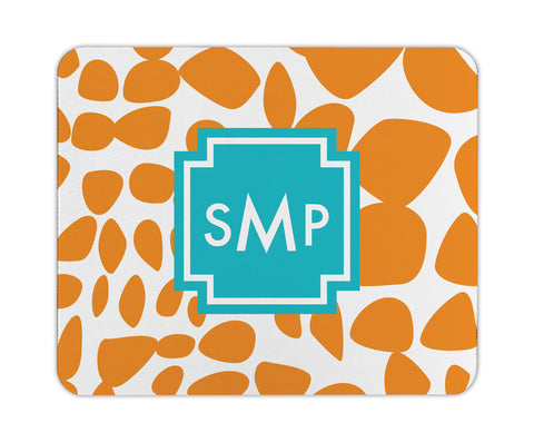 Orange Lizard Personalized Mouse Pad