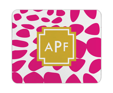 Bright Pink Lizard Personalized Mouse Pad