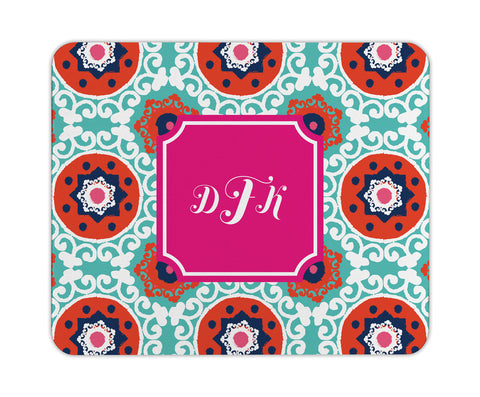 Fire Modern Suzani Personalized Mouse Pad