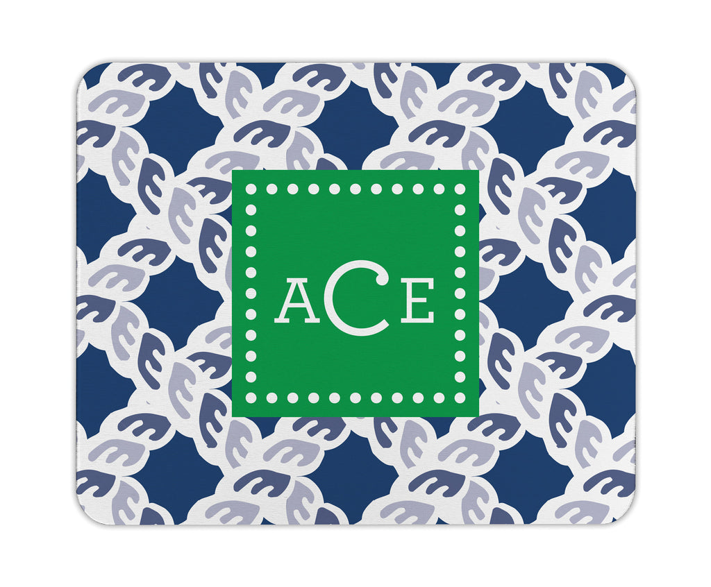 Navy Nautical Personalized Mouse Pad