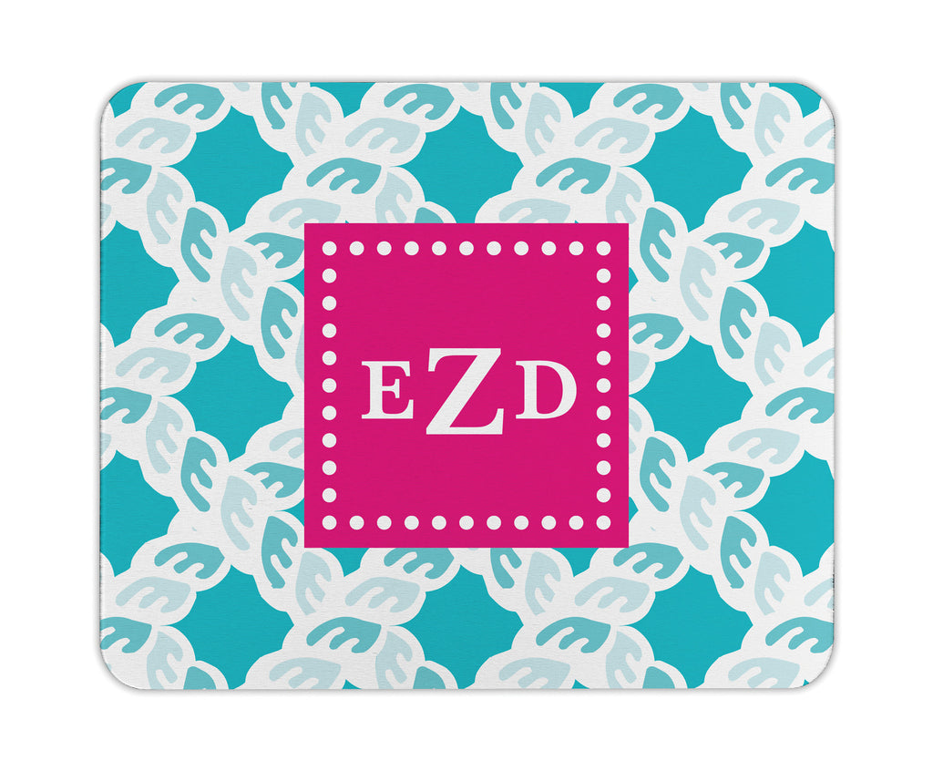 Nautical Blue Nautical Personalized Mouse Pad