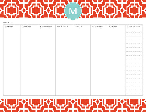 Fire Designer Lattice Personalized Meal Planner Pad
