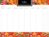 Fire Chinoiserie Personalized Meal Planner Pad