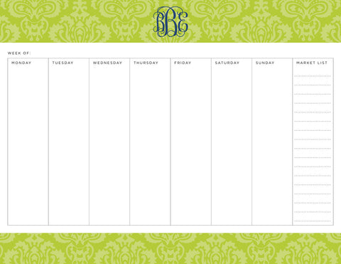 Lime Maddy Personalized Meal Planner Pad