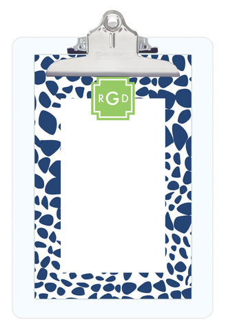 Navy Lizard Personalized Note Sheets on Acrylic Clipboard
