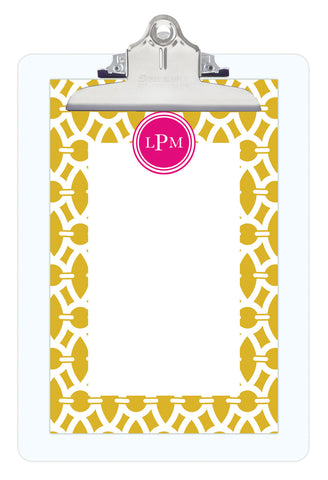Spice Trellis Personalized Note Sheets on Acrylic Clipboard