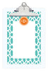 Aqua Sky Trellis Personalized Note Sheets on Acrylic Clipboard