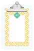 Lemon Bloom Personalized Note Sheets on Acrylic Clipboard