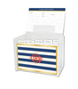 Navy Classic Stripe Lucite Recipe Box & 48 Recipe Cards