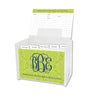 Lime Maddy Lucite Recipe Box & 48 Recipe Cards