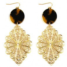 Tortoise Filigree Earrings