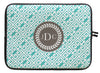 "Aqua Sky Greek Key Personalized Laptop Sleeve - 13"" or 15"""