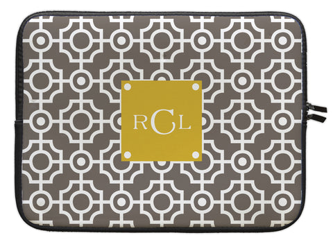"Smoke Lattice Personalized Laptop Sleeve - 13"" or 15"""