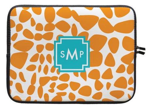 "Orange Lizard Personalized Laptop Sleeve - 13"" or 15"""