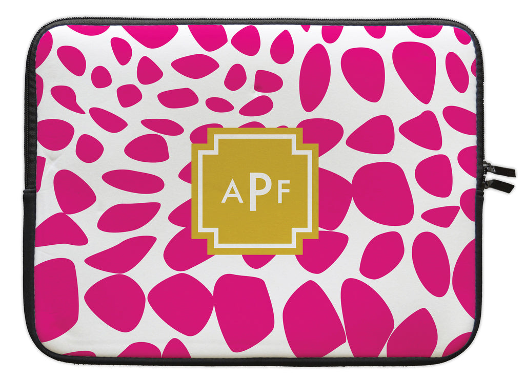 "Bright Pink Lizard Personalized Laptop Sleeve - 13"" or 15"""