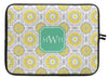 "Lemon Modern Suzani Personalized Laptop Sleeve - 13"" or 15"""