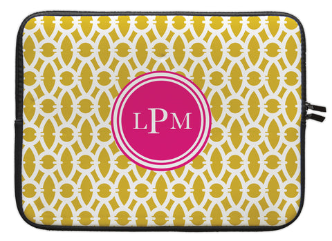 "Spice Trellis Personalized Laptop Sleeve - 13"" or 15"""