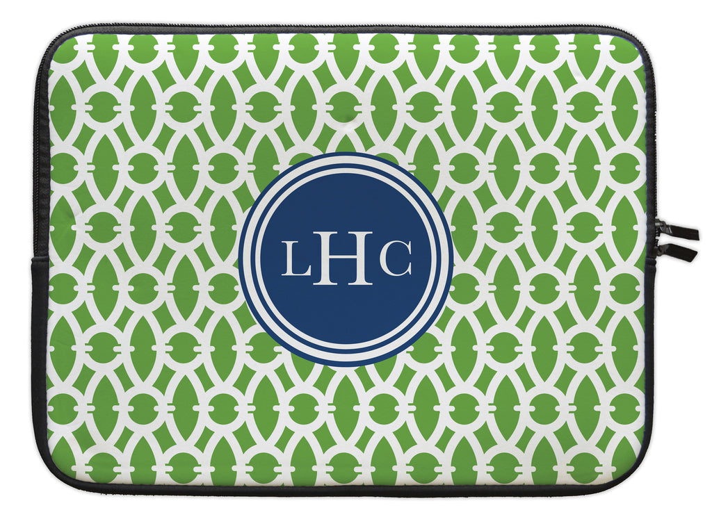 "Basil Trellis Personalized Laptop Sleeve - 13"" or 15"""