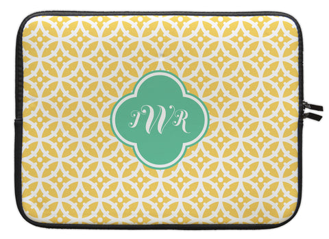 "Lemon Bloom Personalized Laptop Sleeve - 13"" or 15"""