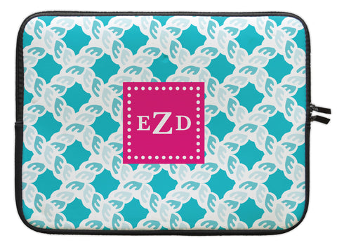 "Nautical Blue Nautical Personalized Laptop Sleeve - 13"" or 15"""