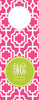 Peony Designer Lattice Wine Tag