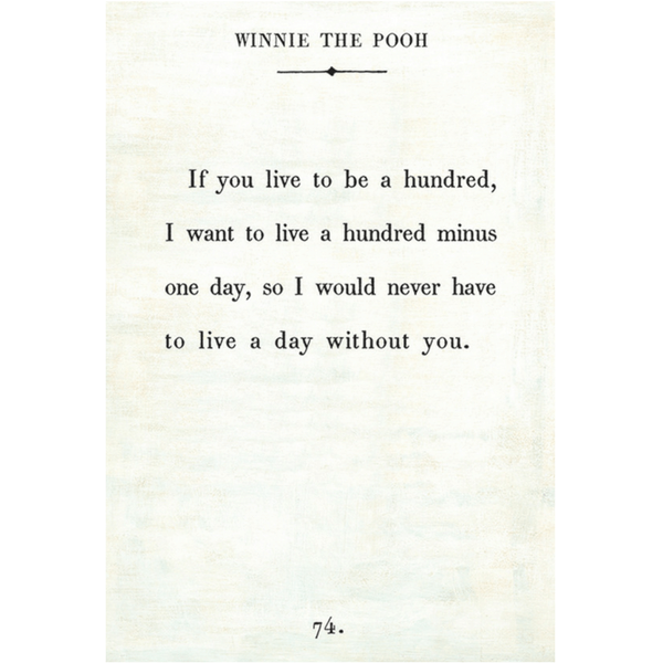 Winnie the Pooh Book Quote Art