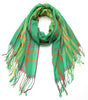 Lightweight Plaid Scarf - Green Plaid