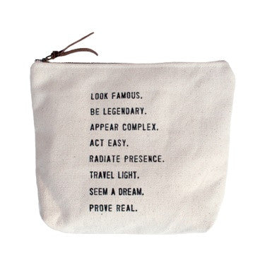 Look Famous .... Quote Canvas Bag