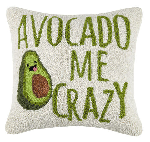 Avocado Me Crazy Hook Pillow