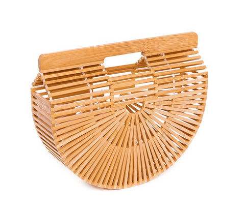Bamboo Woven Clutch