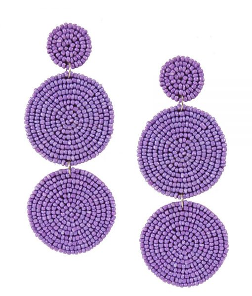 Sienna Beaded Earrings - Lavender