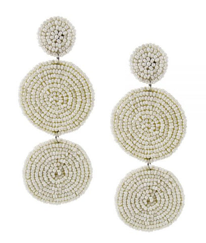 Copy of Sienna Beaded Earrings - White