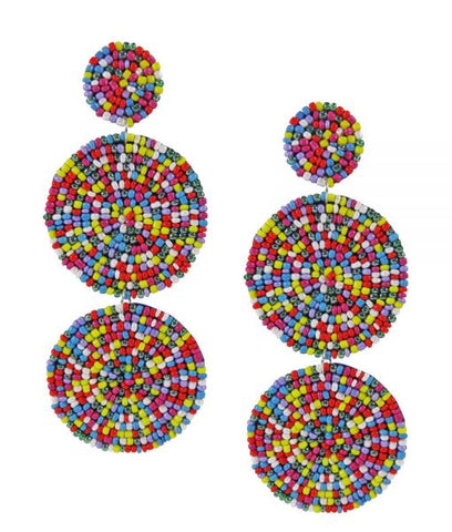 Sienna Beaded Earrings - Rainbow