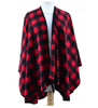 Buffalo Blanket Shawl Scarf - Black/Red