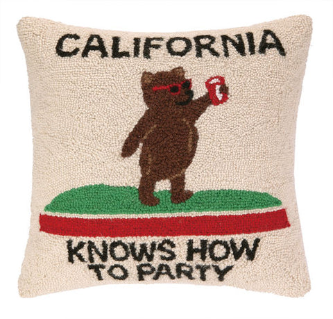 California Knows How To Party Hook Pillow