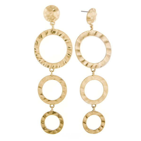 Lola Gold Circle Dangle Earrings
