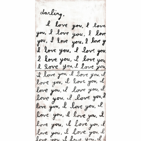 Darling I Love You (Letter for You) Art Panels