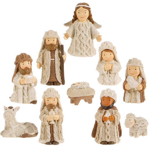 "2.5"" Faux Knit Nativity"