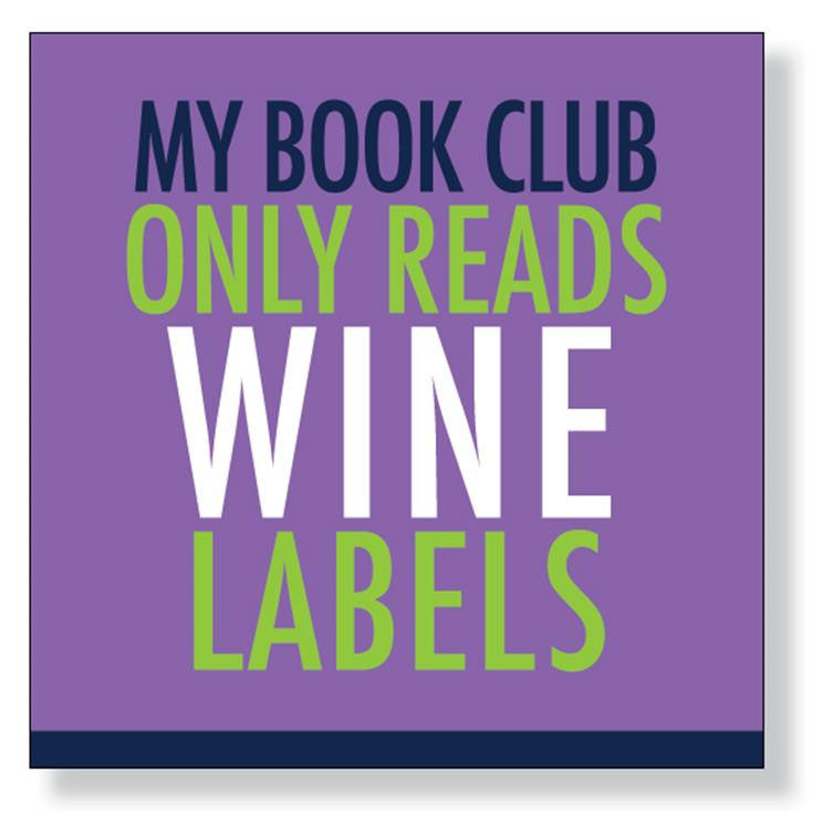 My Book Club Only Reads Wine Labels Napkins