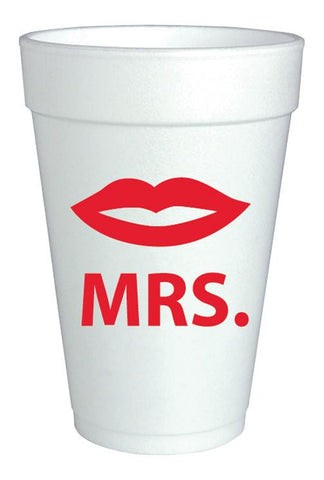 """Mrs."" Foam Cups {pkg of 10}"