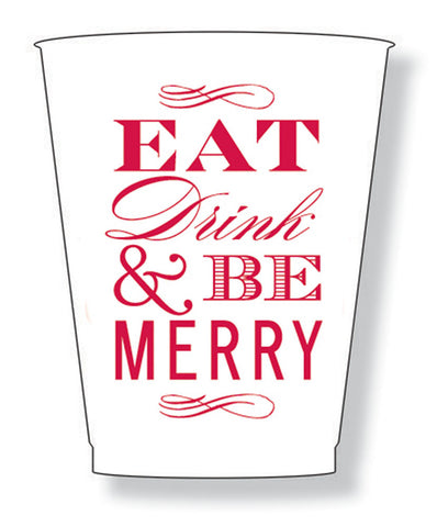 Be Merry Foam Cups - pkg of 10