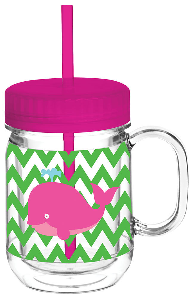 Kids Whale Double Wall Mason Tumbler